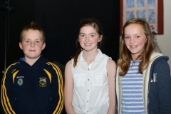 Enjoying Beauty and the Beast at Our Lady's Secondary School Templemore were the Ledhams from Lorrah :L to R:Daniel,Enya and Emily.