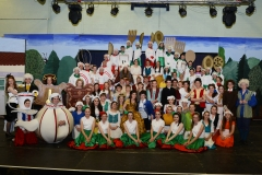 The cast of Beauty and the Beast which took place at Our Lady's Secondary School Templemore.